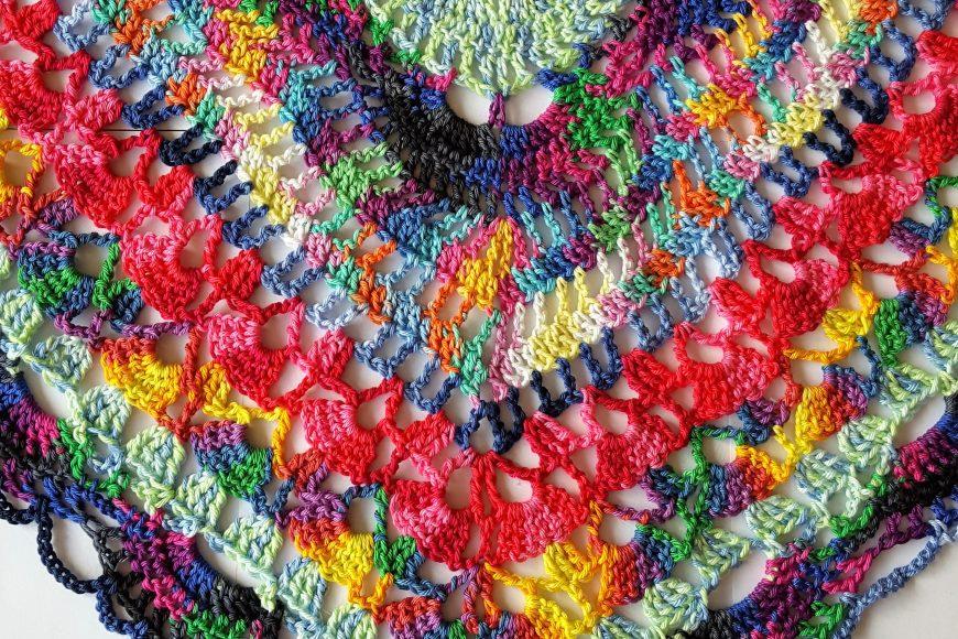 Gratis Patroon – Samba Rose Sjaal